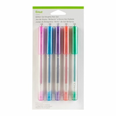Cricut Explore Maker - Set de 5 stylos gel à pointe moyenne (Glitter Brights)-1