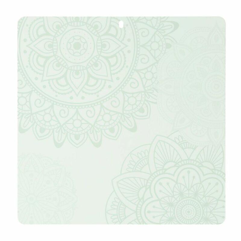 Tapis d'autoguérison décoratif 12x12 - Menthe_blanc