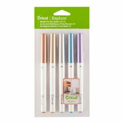 Cricut - Set de 5 stylos à pointe moyenne (Métallique)