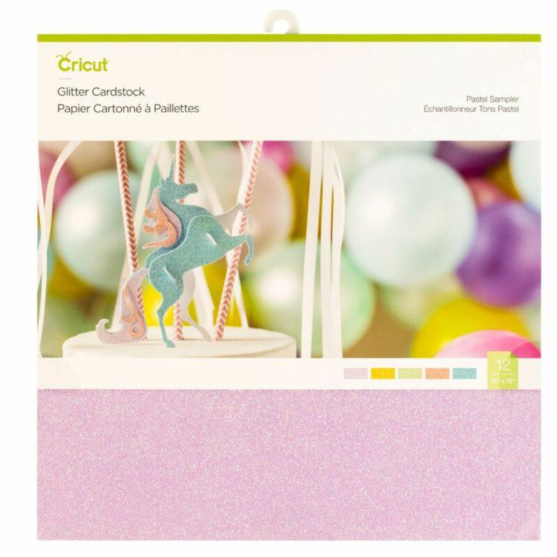 2004903_Cricut_Glitter_Cardstock_Sampler_Pastel_12x12